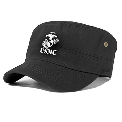 UTWJLTL Army Cap Corps Hat Eagle Globe Anchor US Corps Baseball Adjustable Basic Everyday Military Style for Men Women