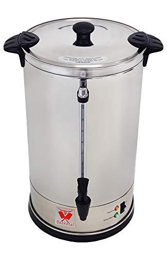 Beeketal 'BGK16' Gastro Rundfilter Kaffeemaschine 16 Liter, Edelstahl Filterkaffeemaschine doppelwandig mit 2 Heizsystemen (Brühen/Warmhalten), Füllstandsanzeiger und rosftreiem Permanent-Filter
