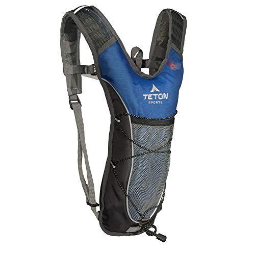 """TETON Sports 1000B Trailrunner 2 Liter Hydration Backpack; Free 2-Liter Hydration Bladder; For Backpacking, Hiking, Running, Cycling, and Climbing; Blue, 16.5"""" x 10.5"""" x .7"""""""