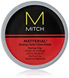 Paul Mitchell Mitch Matterial Hair Clay for Men, Strong Hold, Ultra-Matte Finish, 3 Fl Oz