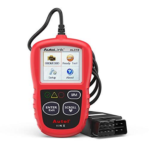 Autel obd2 Diagnosegerät AL319 EOBD Diagnose für Diesel und Benzin Fehlercode lesen und löschen,MIL ausschalten,Echtzeitdaten und Freeze Frame anzeigen,DTC-Definition