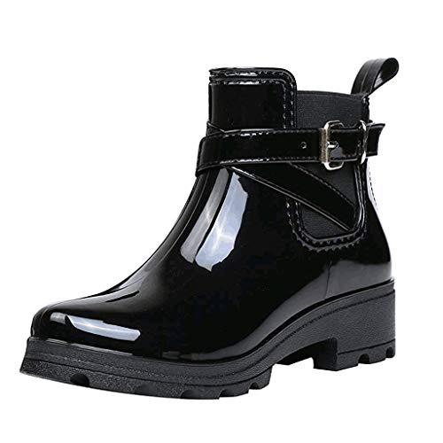 Stiefeletten mit Dicken Sohlen mit Damen Stiefel Schuhe Stiefel Frauen Ankle Booties Leder Ritter Damen Stiefel Zip Cowboy Schuhe 35-39EU