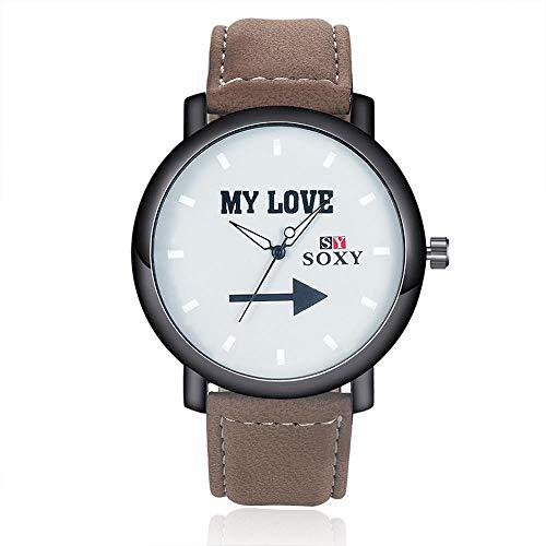ZCFDNB Relojes Nuevo Reloj De Cuarzo De Cuero para Hombre Reloj De Cuarzo Redondo Reloj con Dial Redondo Reloj De Pulsera