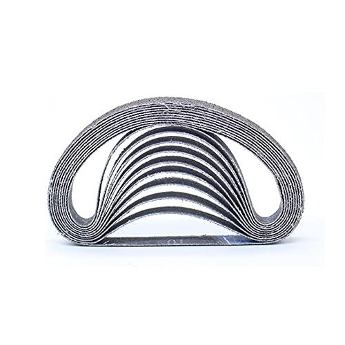 feel Cinturones de Lijado de Tela 20 Piezas/Lijas de Banda / 10x330mm / Cinturones Abrasivos /, usadas para la máquina de Pulido de lijadora de Cintas de Aire neumático, Lijado Correas