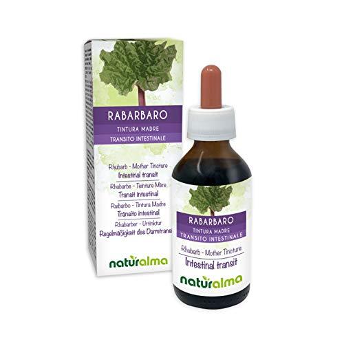 Ruibarbo (Rheum palmatum o Rheum officinale) raíces y rizomas Tintura Madre sin alcohol Naturalma | Extracto líquido gotas 100 ml | Complemento alimenticio | Vegano