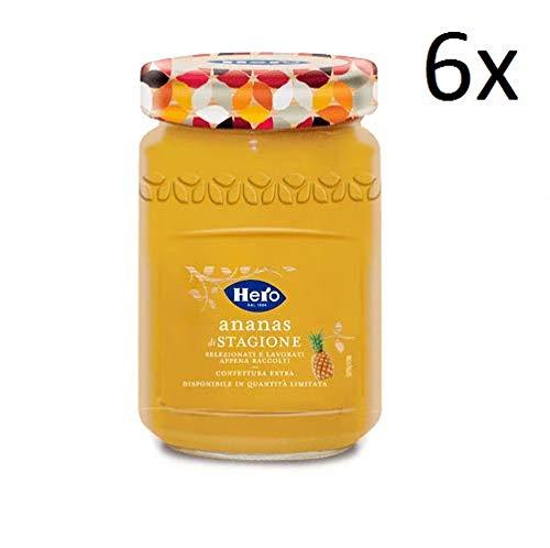 6x Hero Saisonale Ananas Marmelade Konfitüre Brotaufstriche Italien 350g
