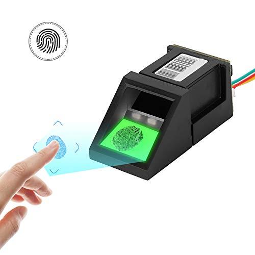 coldwind Sensor Biométrico del Lector De Huellas Dactilares USB Seguridad Impermeable Sensor De Control De Acceso A La Exploración De Huellas Dactilares-Negro