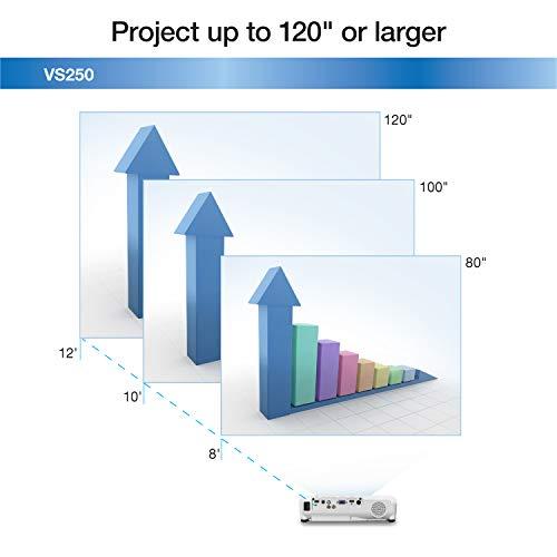 Epson VS250 SVGA 3,200 Lumens Color Brightness (Color Light Output) 3,200 Lumens White Brightness (White Light Output) HDMI 3LCD Projector