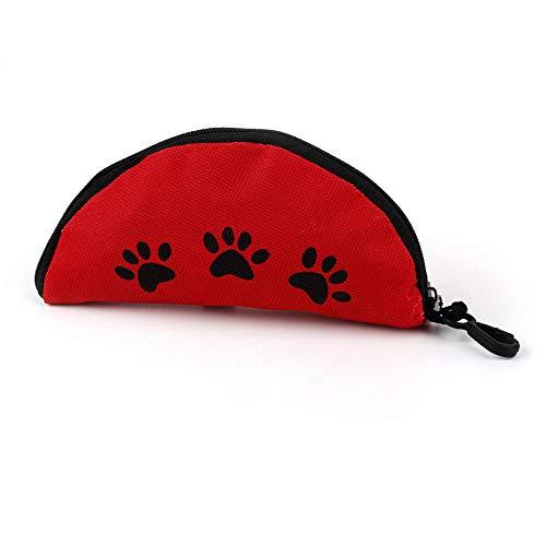JFHGNJ Oxford Tuch Wasserdicht Tragbarer Reißverschluss Faltbare Reise Hundefutter Wasserschüssel Hohe Qualität-rot