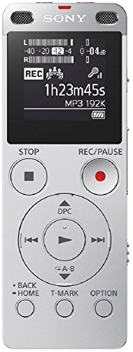Sony ICD-UX560F Digital Voice Recorder with Built-in USB (Silver)
