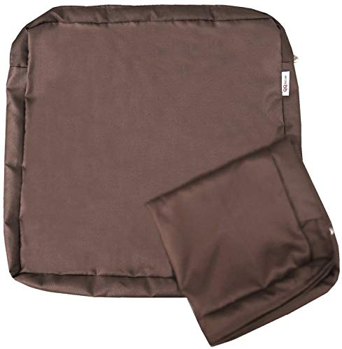 QQbed 4 Pack Outdoor Patio Chair Waterproof Cushion Pillow Seat Duvet Covers in Cocoa Brown Color 24'X22'X4' - Replacement Covers Only