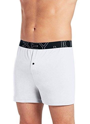 Jockey Men's Underwear ActiveBlend Knit Boxer, White, s