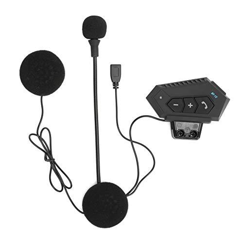 Rosvola Casco Auriculares Diseño de Moda Diseño ergonómico Motocicleta Auriculares Inalámbricos Bluetooth Batería de Larga duración Llamada para el Trabajo Motocicleta Al Aire Libre(BT12)