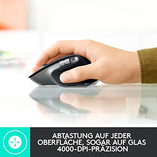 Logitech MX Master 3 – Die fortschrittliche, kabellose Maus für Mac, Ultraschnelles Scrollen, ergonomisches Design, 4.000 DPI, individualisierbar, USB-C, Bluetooth, für MacBook und iPad, Grau - 10