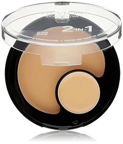 Revlon Colorstay 2 In 1 Compact Makeup + Concealer, Nude 200