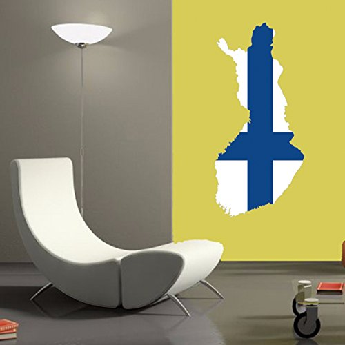 DIYthinker Finse Vlag Kaart Van Finland Muur Vinyl Sticker Aangepaste Home Decoratie Muursticker Bruiloft Decoratie Pvc Wallpaper Mode Ontwerp