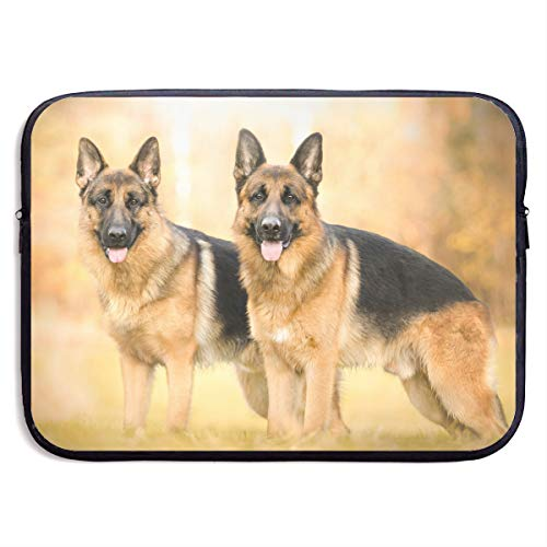 VEGAS German Shepherd Dogs Laptop Sleeve Case Bag Handbag for MacBook/Notebook/Ultrabook - Lightweight Carring Protector for 15 Inch Samsung Sony ASUS Acer Lenovo Dell HP Toshiba Chromebook Computers