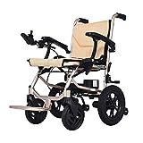 ZDW Silla de ruedas Silla de ruedas eléctrica ultraligera, con un peso de solo 14 kg Batería de litio doble desmontable Silla de ruedas plegable, Silla de ruedas asistida para personas mayores. Silla