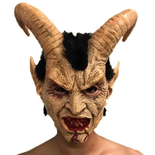 AAWFUL Unheimlich Maske Dämon Teufel Horn Latex Masken Halloween Cosplay Dekoration Festival Party Supply Requisiten Erwachsene Schrecklich