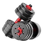 Mancuernas Ajustable Pesa, Home Fitness Equipment Barra Barra Ajustable De Los Hombres Músculos Ejercicio De Brazo con La Biela (Color : Black, Size : 30kg)