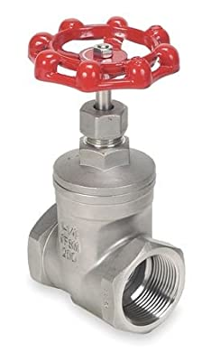 Gate Valve, Class 200, 1 In, 316 SS by GRAINGER APPROVED