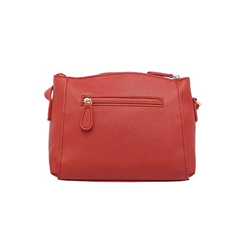 Lavie Denali Horizontal Plain Women's Sling Bag (Red)