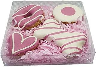 犬用おやつ 豪産手作り健康クッキー (ピンクギフトボックス) 天然色素使用