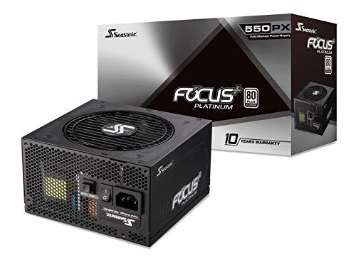 Seasonic Focus Plus - Bloc d'alimentation modulaire complet Platinum 80 Plus - 550 W