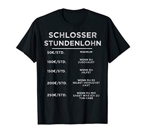 Herren Schlosser Metallbauer Handwerker Schweißer Geschenk T-Shirt