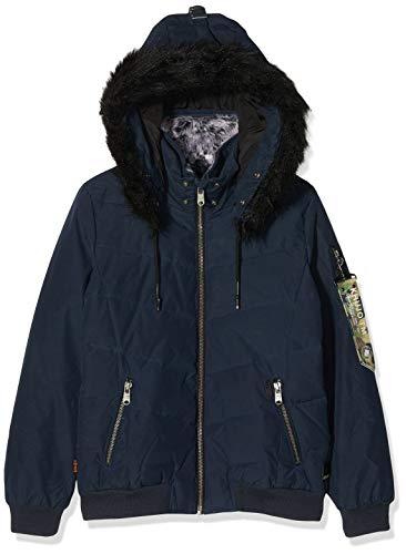 khujo Damen ADELINDE Military Puffer Jacke, Blau (Mi-Blue 480), Large