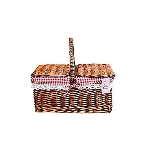 cesta con tapa con efecto mimbre de la marca LITINGT