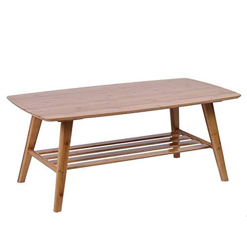 Hochleistungs-Bambustisch, Couchtisch, mit Tischrahmen Rechteckiges stabiles modernes Haus für Wohnzimmer Schlafzimmer Büro