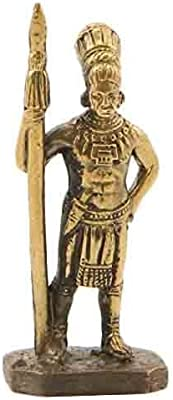 CTOC Indian with a Spear Bronze Statuette Native of South America Series Handmade Military Historical Miniature 40 mm Collection Figurine Metal Toy Soldier pub37