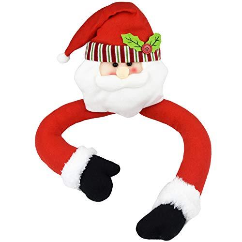 Fengek Christmas Tree Topper Santa Head Hugger for Christmas Tree Decoration Party Home Ornament
