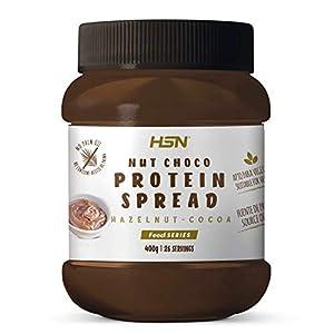 Crema Hiperproteica de Cacao y Avellanas de HSN   NutChoco con Whey Protein   Ideal para Untar en Tortitas ¡Deliciosa!   Baja en azúcar, Sin Aceite de Palma, Sin Gluten   Apto Vegetarianos   400 gr