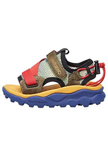 "Naturino Nazca Junior-Sandal abierta ""Open Toe"" de tejido técnico, Verde (verde oscuro), 32 EU"