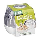 Joie – Bote Recipiente Guarda ajos con ventilación – ABS Libre de BPA – Blanco/Transparente