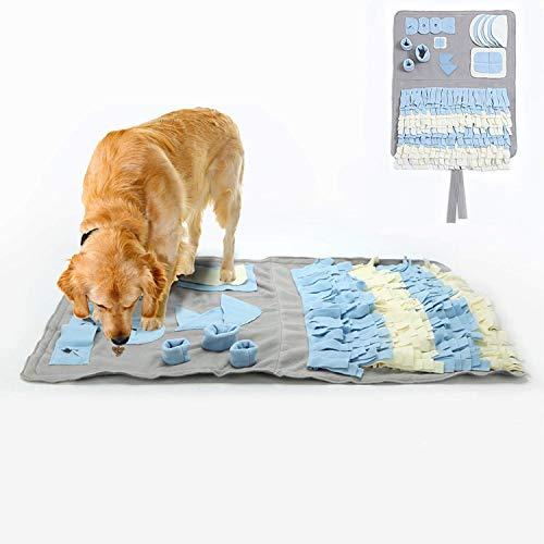 YAMI Schnüffelteppich für Hunde Schnüffelrasen Hund Schadstofffreies Hundespielzeug Fördert Natürliche Nahrungssuche (100 x 60cm)