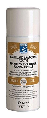 Lefranc Bourgeois Fixatif pour Crayons, Fusains et Pastels, aérosol 400 ml