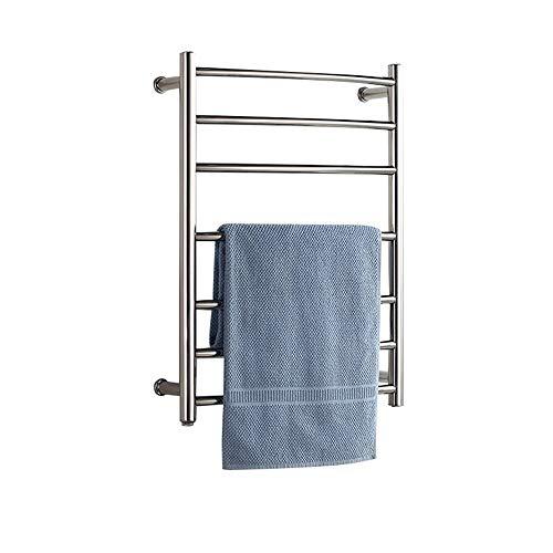 Calentador de toallas para el hogar, Toallero eléctrico de acero inoxidable 304 tendedero y radiador de toallas de baño montado en la pared, Para baños, balcones, hoteles, radiadores de baño ZDDAB