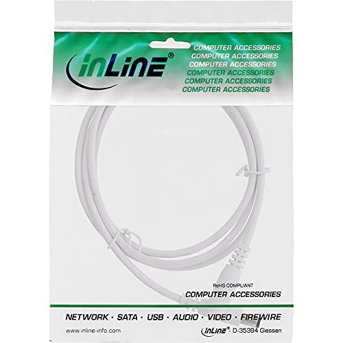 InLine® InLine - Cable alargador CC (5,5 x 2,1 mm, 1 m), color blanco