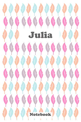 JULIA NOTEBOOK: Julia notebook / journal / A personalized journal / A Personalized Notebook Gift for Julia / Notebook For Girls / 100 Pages 6x9 inches Matte Finish Cover