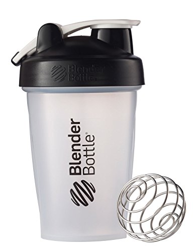 BlenderBottle Classic Loop Top Shaker Bottle, 20-Ounce, Clear/Black