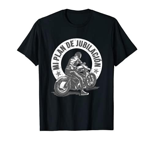 Hombre Regalo Motero Motociclismo Biker Mi Plan De Jubilación Moto Camiseta