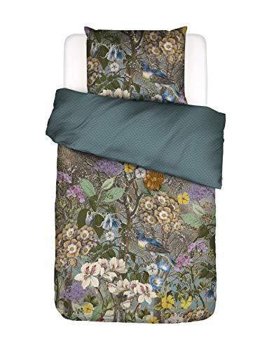 ESSENZA Iris Bed Linen Floral Blue 135 x 200 cm + 1x 80 x 80 cm