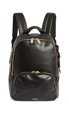 TUMI - Voyageur Hannah Leather Laptop Backpack - 13 Inch Computer Bag for Women - Black