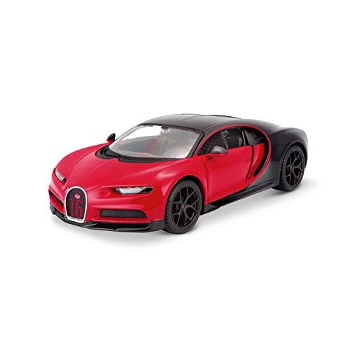 Maisto 531524 Bugatti Chiron Sport Modellauto, rot-schwarz