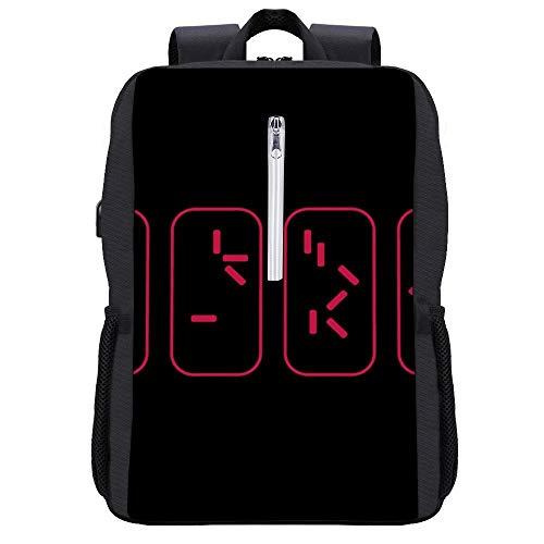 Predator Countdown Time To Get To The Chopper Rucksack Daypack Bookbag Laptop Schultasche mit USB-Ladeanschluss