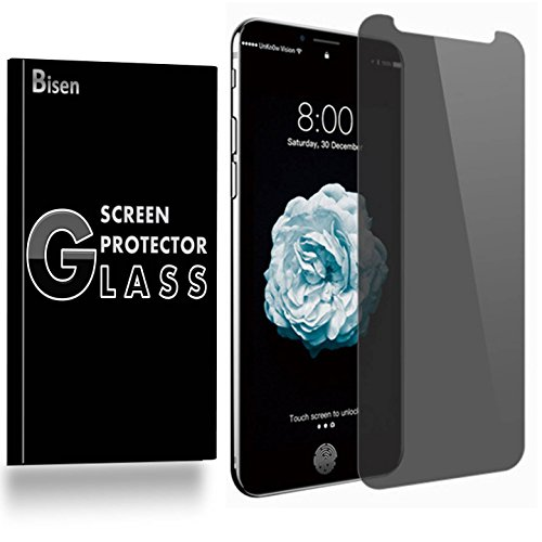 [BISEN] for iPhone 11 Pro Max, iPhone XS Max Privacy Screen Protector Tempered Glass, Anti-Spy Screen, Anti-Scratch, Anti-Shock, Bubble Free, Lifetime Protection & Replacement
