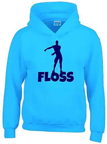 Floss Hoodie Sweatshirt mit Kapuze Sky-Navy Gr.140 cm